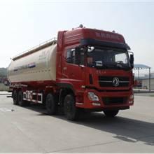 現車供應東風天龍40.5方粉粒物料運輸車哪里有