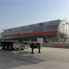 50立方楚勝牌三橋雙胎鵝頸式鋁合金運油車