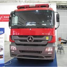 第二屆中國國際商用車展覽車型:湖北新東日雙橋消防車