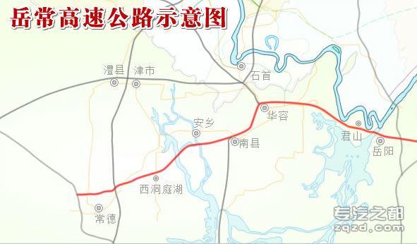 岳常高速公路地图 岳常高速公路线路图 岳常高速公路线路示意图