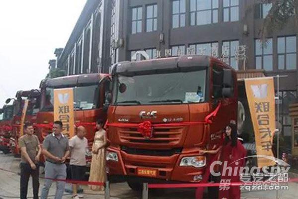 中集联合第一批LNG牵引车登陆江西高安